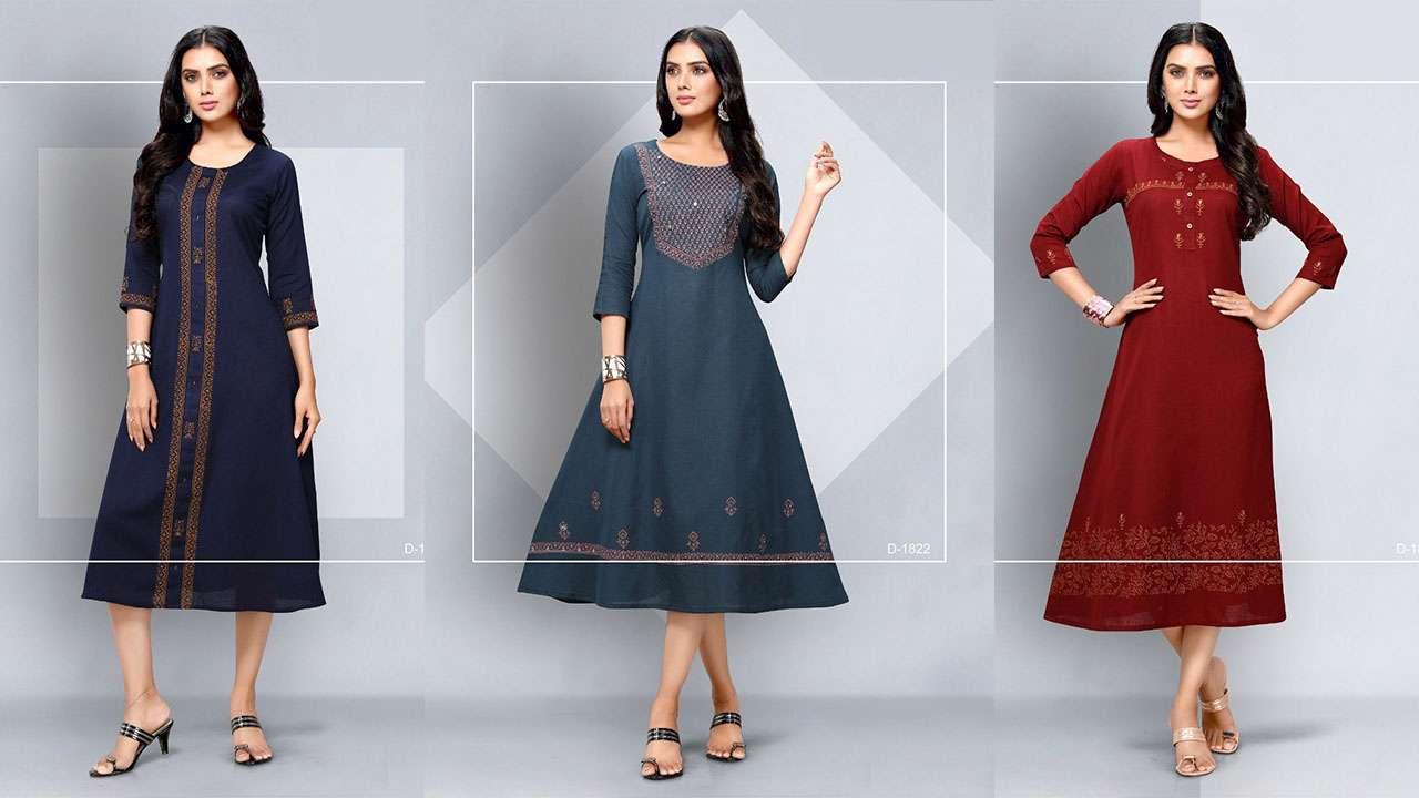 Dovi Fashion The Test of Premium Quality A-Line Kurti Catalog Collection