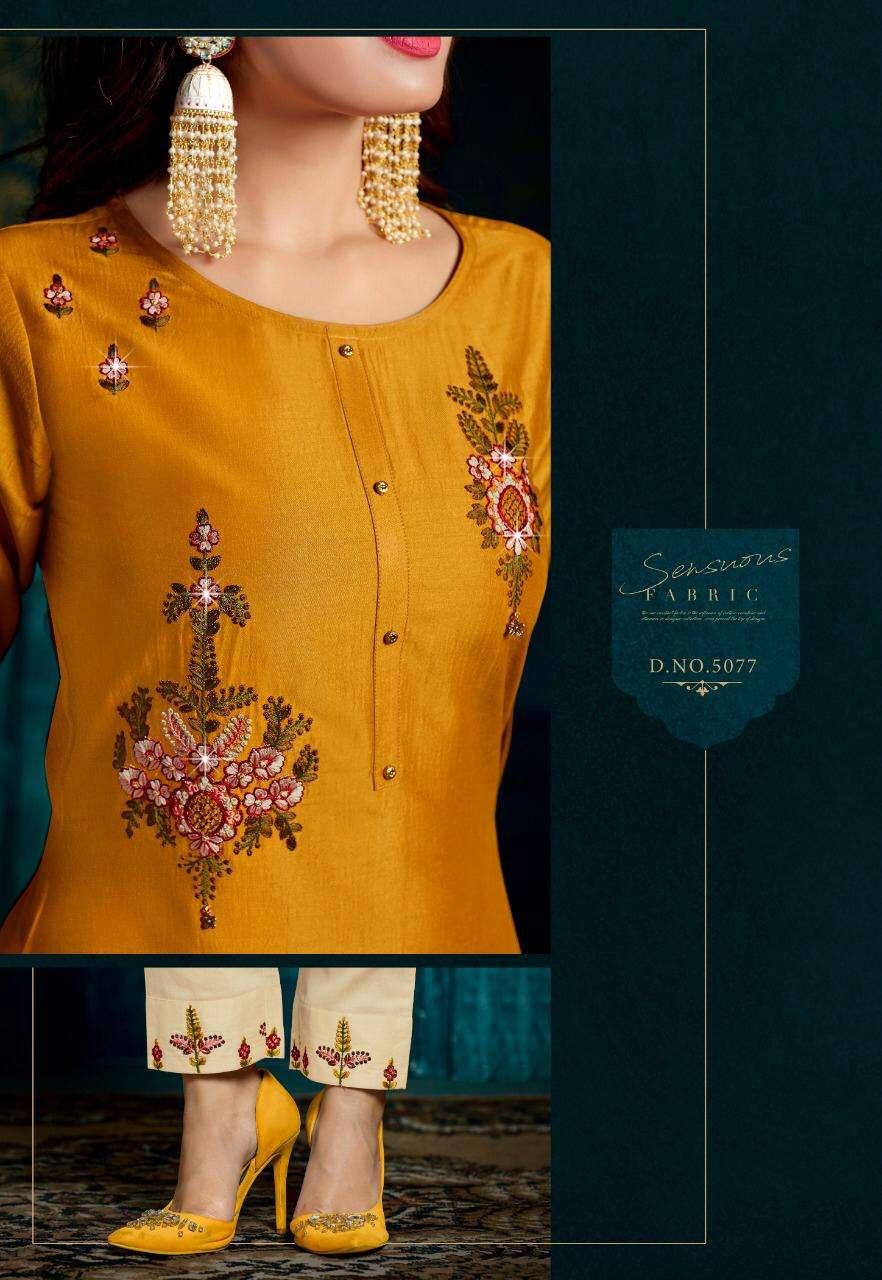 Lily & Lali Monalisa 2 Bemberg Silk Kurti With Bottom And Dupatta Collection