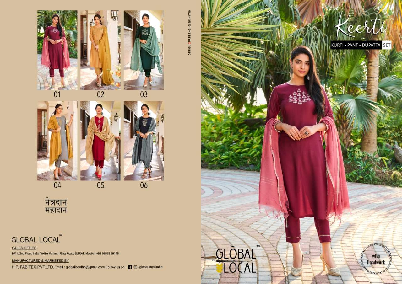 Global Local Presenting Keerti 3Piece Readymade Collection