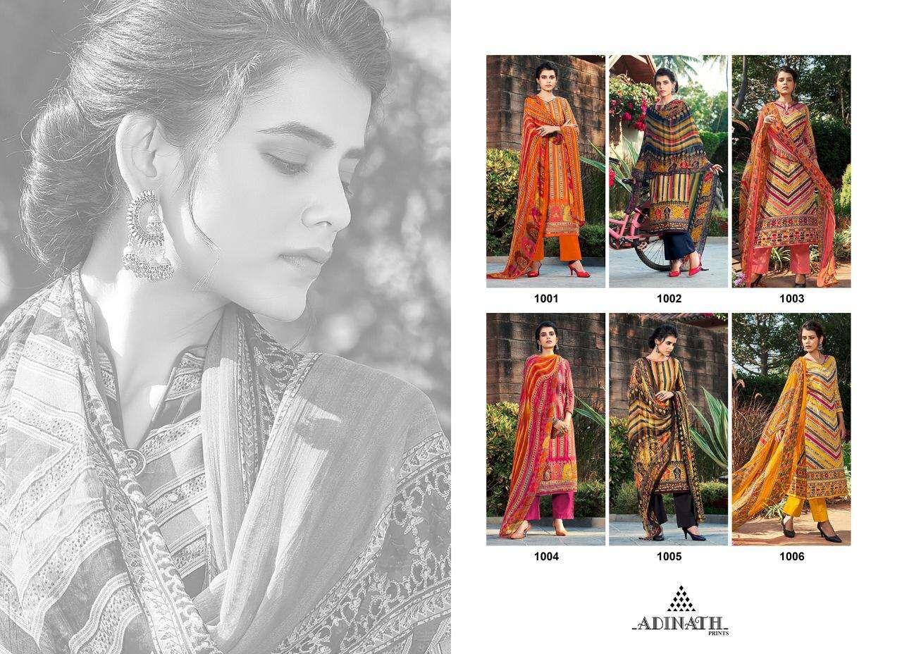 Adinath Prints Launched Rehnuma Jam Cotton Digital Print With Khatli Work Dress Material Collection