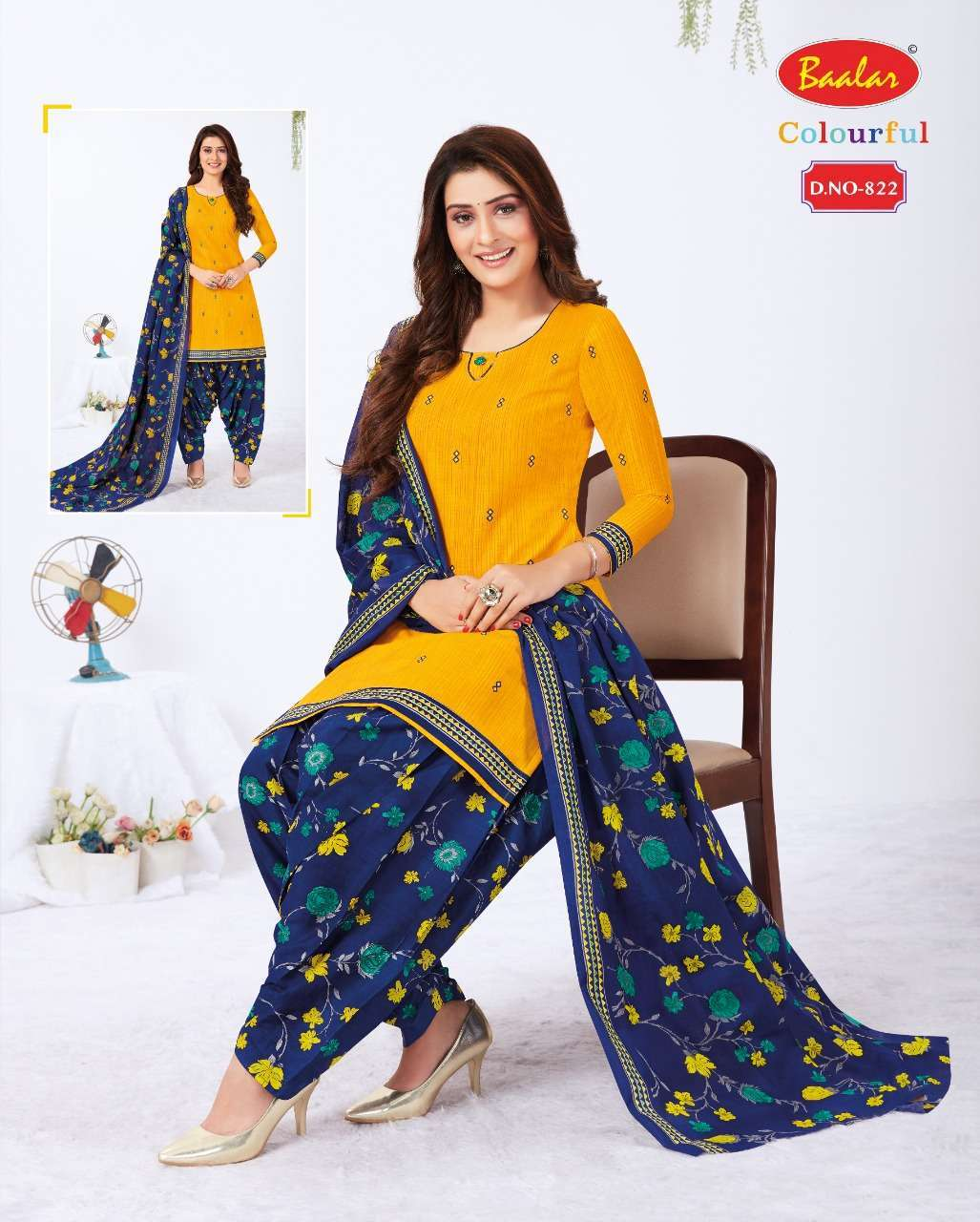Baalar Colourful Vol 8 Cotton Printed Suits Collection