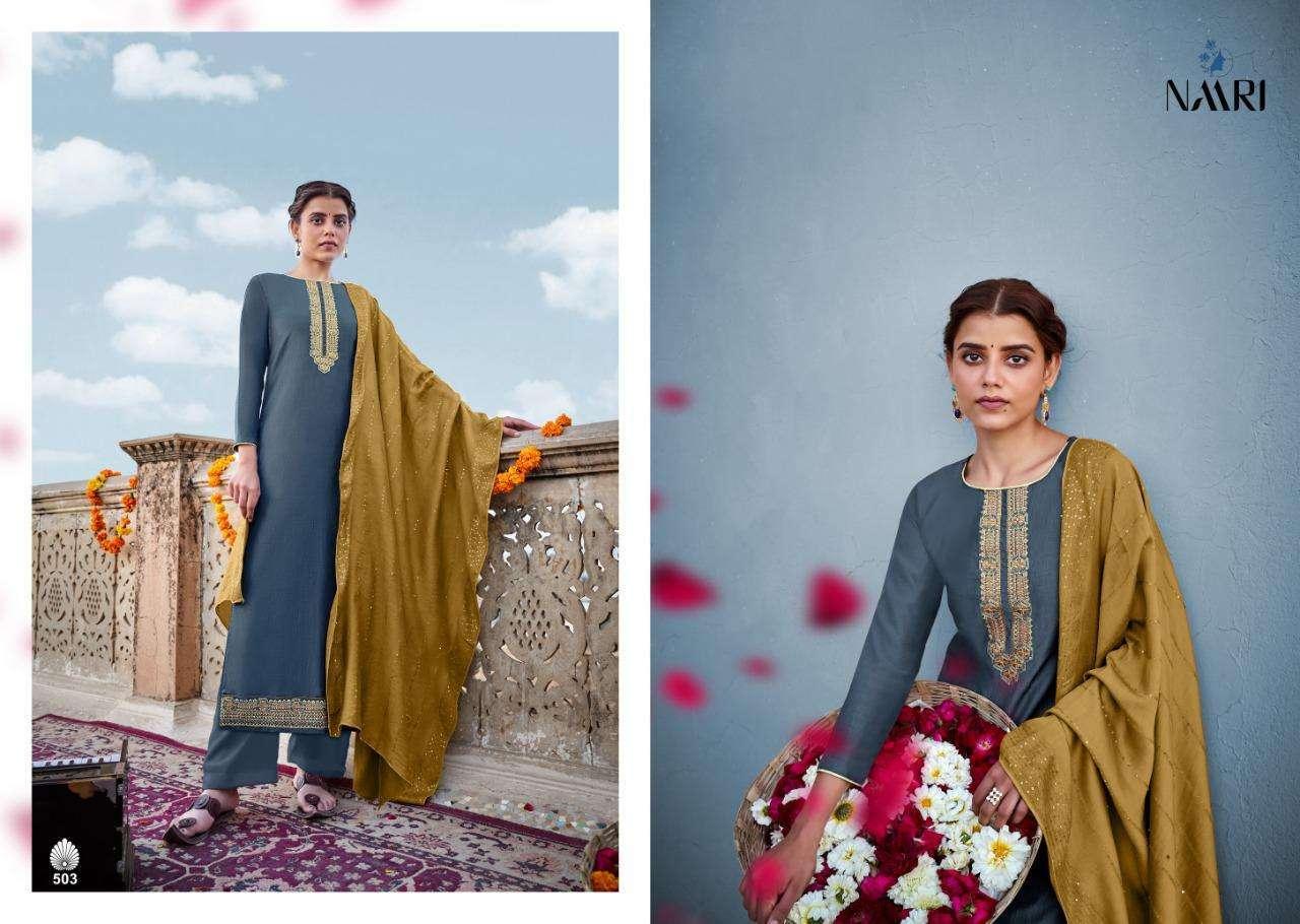 Naari Present Awadhi Chinon Silk Designer Stylish Salwar Kameez Collection