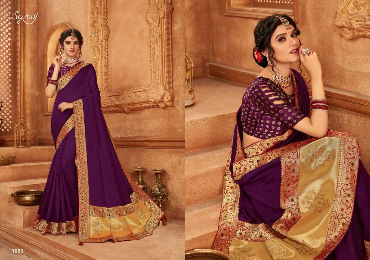 Saroj Abhilasha Festive Wear Silk Sarees Collection