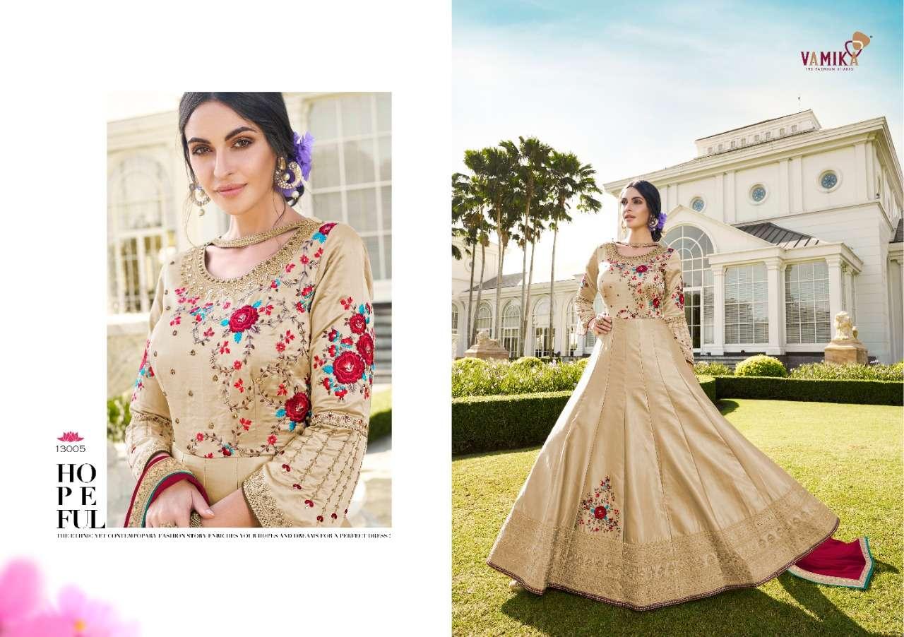 Vamika Presenting Elegant 13001-13005 Exclusive Designer Hand Work Gown Collection