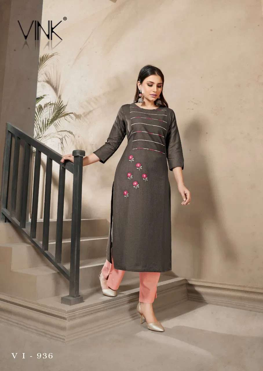 Vink Marigold 4 Ethnic Wear Kurti With Bottom Collection