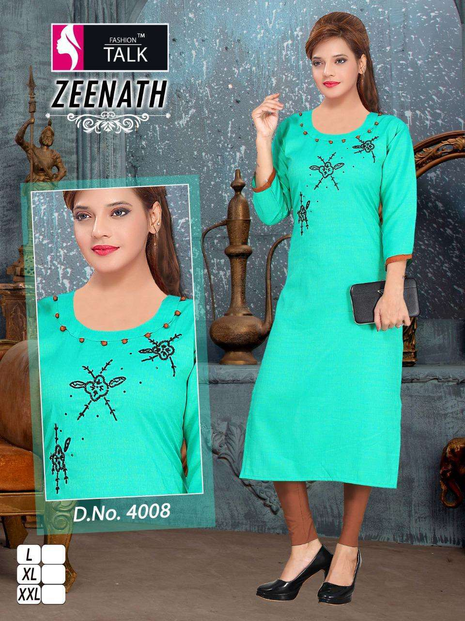 Zeenath By Fashion Talk Heavy Rayon Two-Tone Kurti Collection