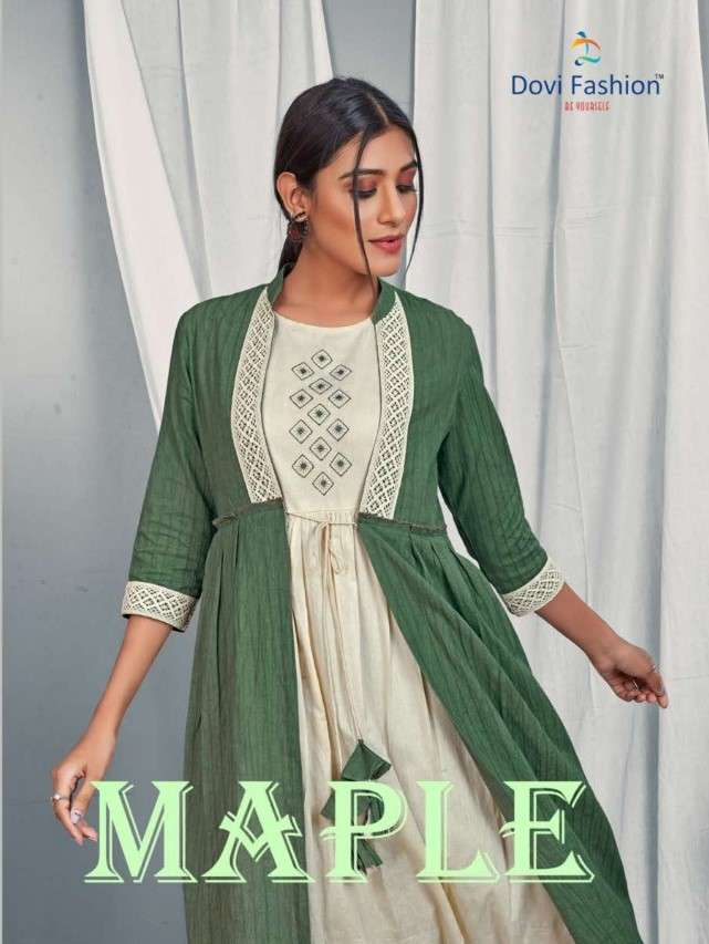 DOVI FASHION PRESENTS MAPLE CATALOG LONG JACKET WITH SEPARATE INNER