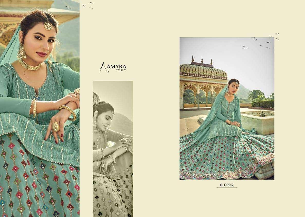 Amyra Designer Presenting Glorina Heavy Designer Top Bottom With Dupatta Catalog Collection