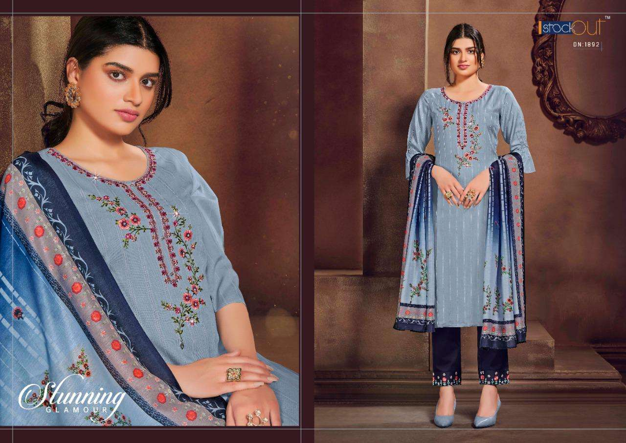 Anju Fabrics Presenting Zara Premium Embroidery Work Kurti With Bottom Collection
