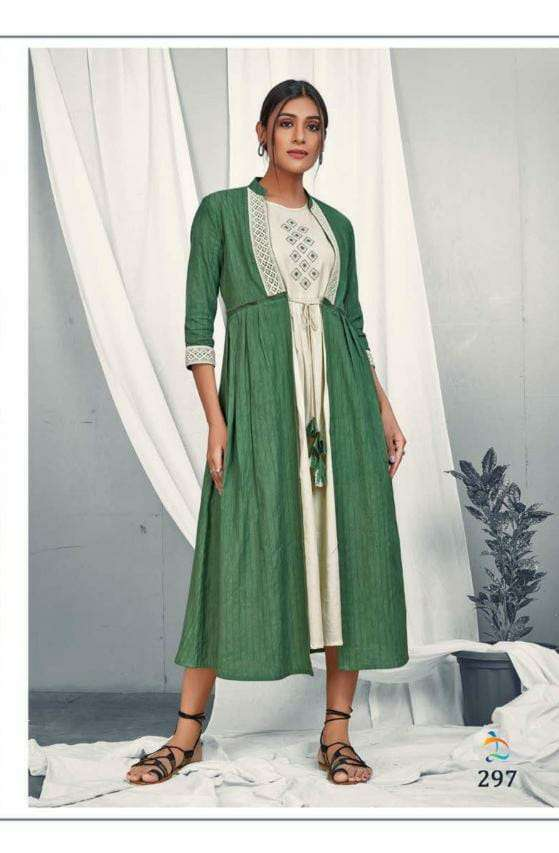 Dovi Fashion Present Long Jacket with Separate Inner Collection