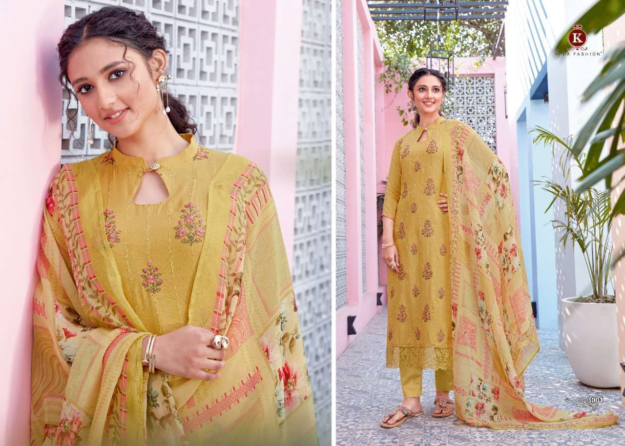 Kala Fashion Kala Organza Fancy Salwar Kameez Collection