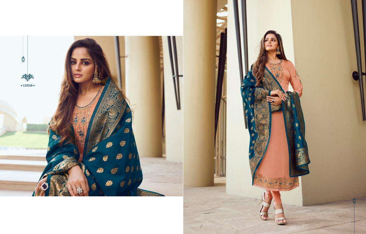 Meera Trends Zisa Banarasi Vol-10 Banarasi Dupatta Salwar Kameez Collection