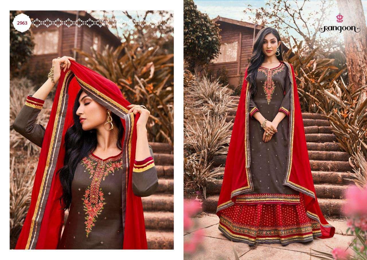 Rangoon Apsara Vol-4 Designer Lehenga Style Salwar Kameez Collection