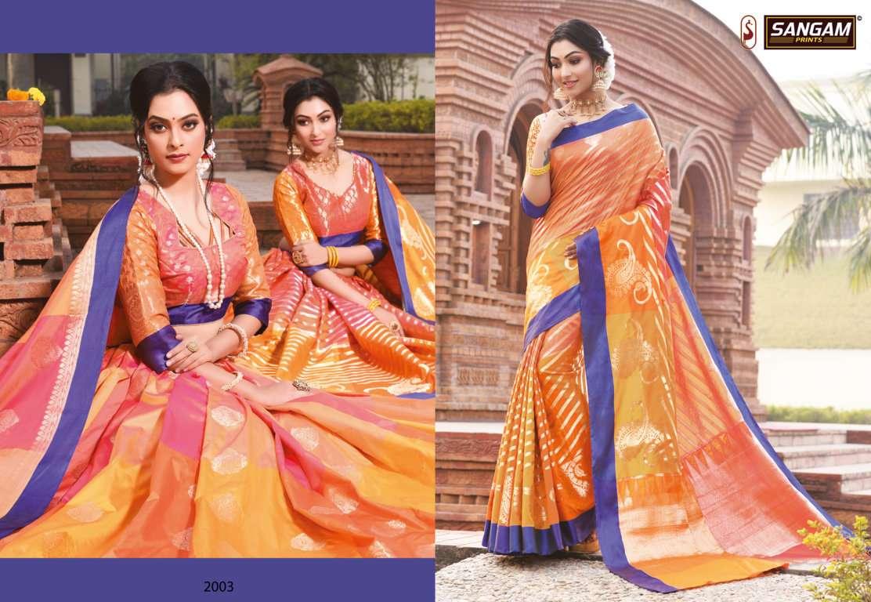 Sangam Kangana Silk Saree Festive Wear Sarees Collection