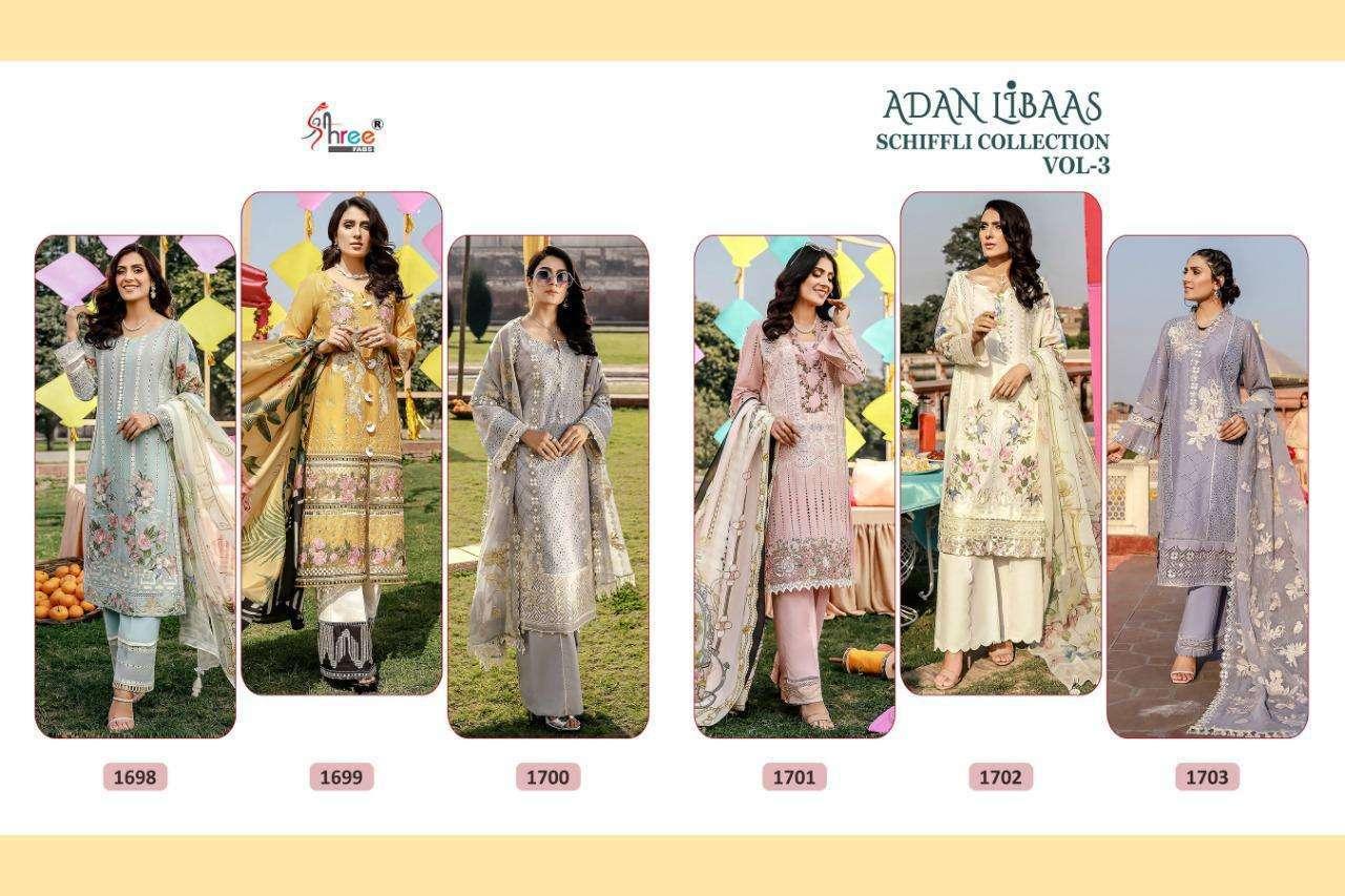 Shree Fabs Adan Libas Schiffli Collection Vol-3 Pakistani Suit Collection