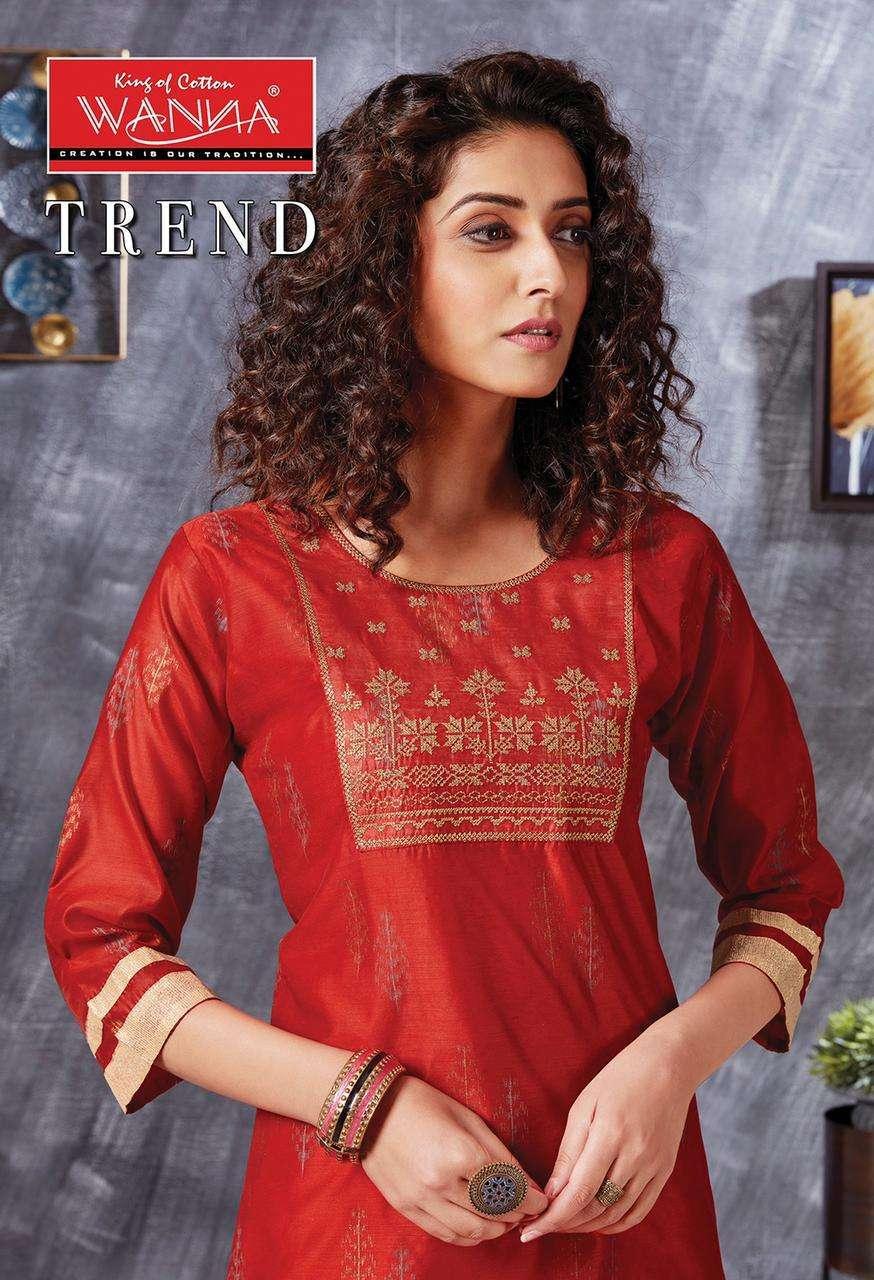 Wanna Trend Fancy Designer Kurti With Bottom Catalog Collection