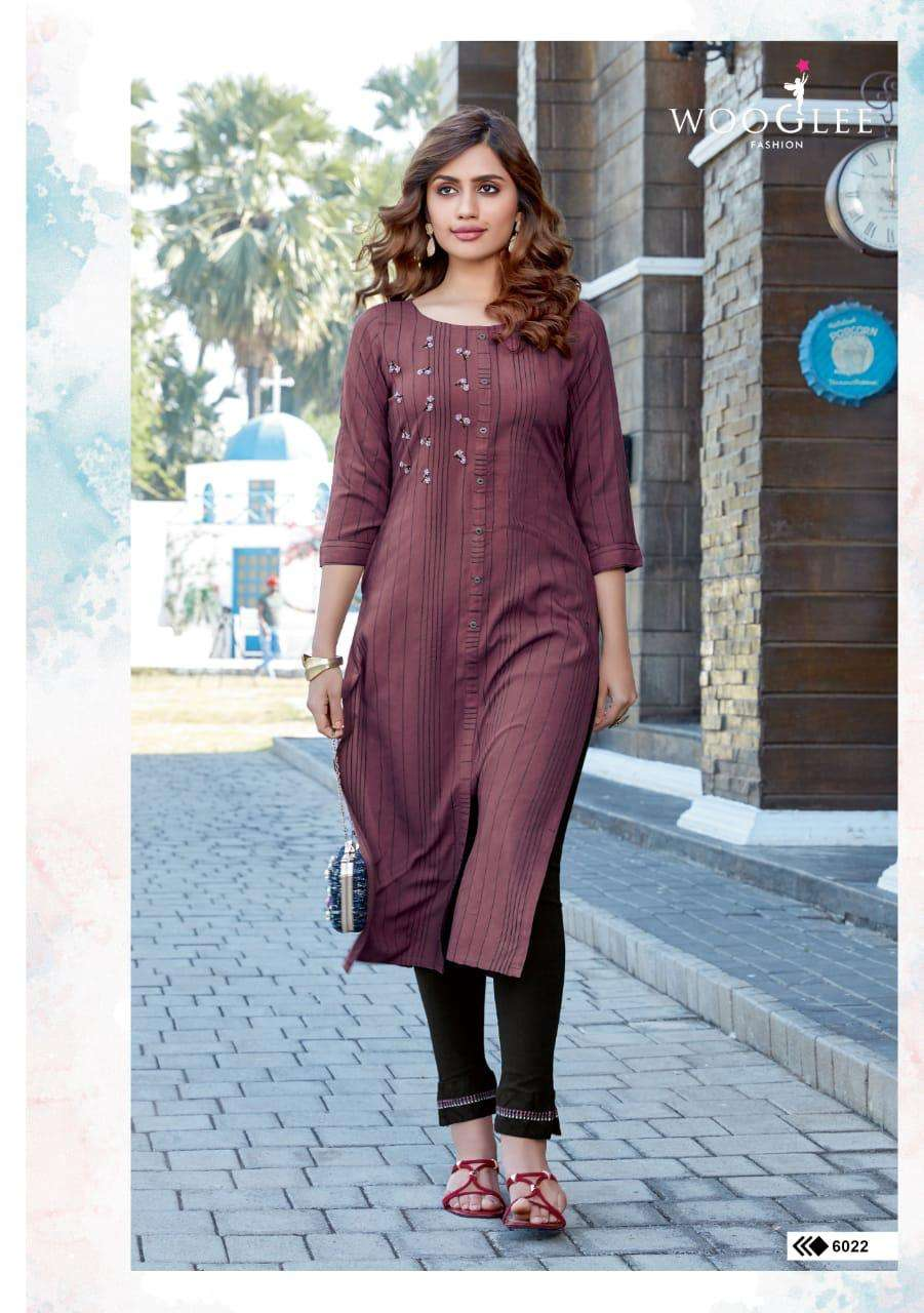 Wooglee Presenting Kesar Vol-2 Embroidery And Handwork Top With Bottom Collection